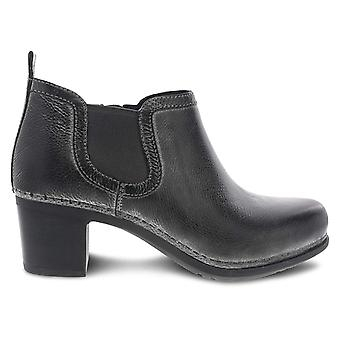 Dansko Women's Shoes Harlene waxy burnished Leather Closed Toe Ankle Chelsea Boots