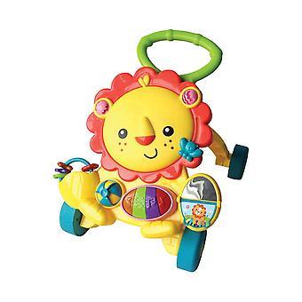 Lorelli running trolley leeuw, running aid game center muziek knoppen licht aangrijpende ringen
