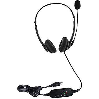 FengChun USB-Headset mit Mikrofon fr PC Laptop-Geruschunterdrckung Kabelgebundenes Headset fr
