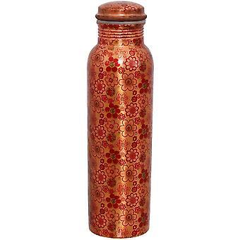 Wokex Travelers reines Kupferblumen-Design-Wasserflasche für ayurvedische Vorteile
