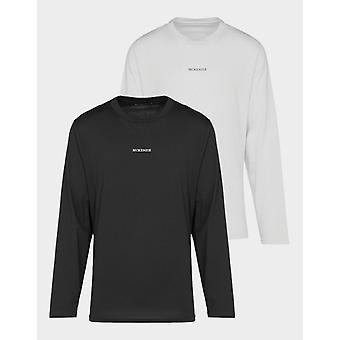 New McKenzie Women's 2 Pack Plus Size Long Sleeve T-Shirts Black