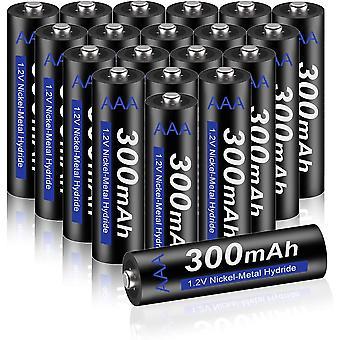 FengChun AAA Akku 300mAh 1,2V NiMH 20 Stück - wiederaufladbare Batterien AAA Akkus, geringe