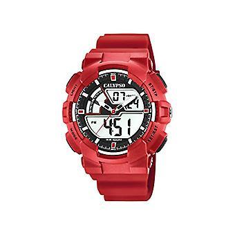 Calypso Watches Analog-Digital Quartz men with plastic strapping K5771/2