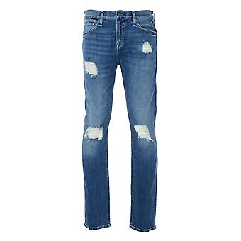 True Religion Rocco Renegade No Flap Relaxed Skinny Fit Jeans - Medium Bleached Blue