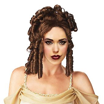 Goddess Greek Roman Hera Brown Ancient Ringlet Women Costume Wig
