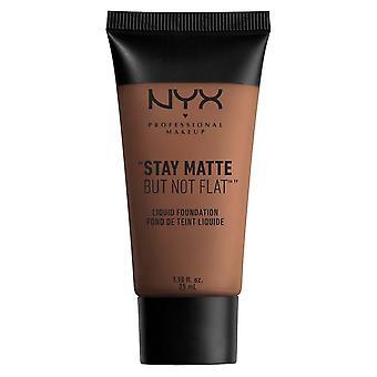 NYX Professional Make Up NYX Stay Matt Men inte Platt Flytande Foundatio 35ml Kakao 19