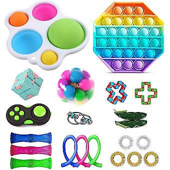 Sensory Fidget Toys Set Bubble Pop Stress Relief for Kids Adults Z485
