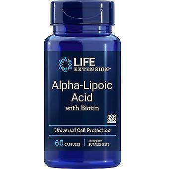Life Extension Alpha-Liponzuur met Biotine Caps 60