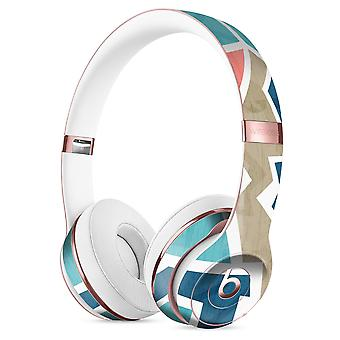 Blue, Pink, And Tan Sections Full-body Skin Kit For The Beats By Dre