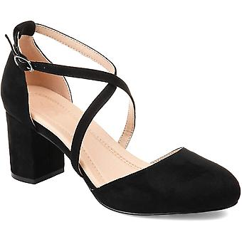 Brinley Co Comfort Womens Classic Ankle-Strap Pump