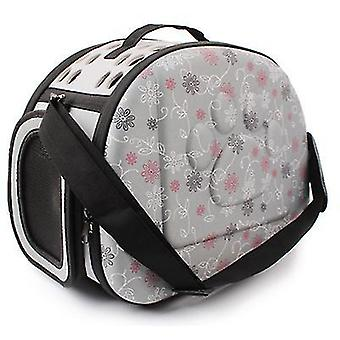 Outdoor Portable Pet Breathable Shoulder Bag, Folding Travel cat Backpack(Gray)