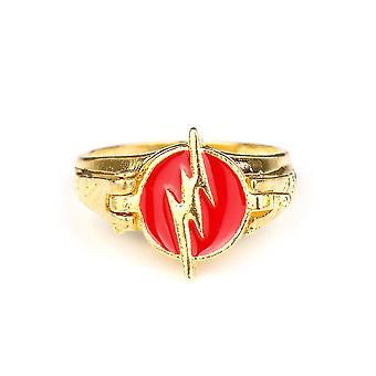 The Flash Anime Ring Superhero Alloy Finger Ring Birthday Gift For Children