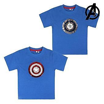 Kortärmad T-shirt för barn Avengers 73491