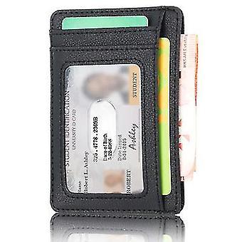 Spot anti-magnetische en anti-slijtage kaarthouder id-kaarthouder bus card tas (RED)