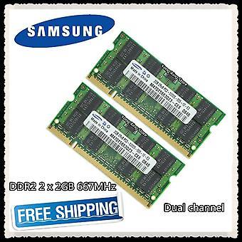 Ddr2 2 X 2gb 4gb двухканальный 667Mhz Pc2-5300s Оригинальный ноутбук с памятью ноутбук