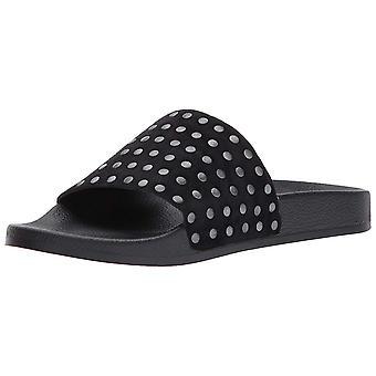 Suerte marca mujeres Piyaa cuero abierta del dedo del pie playa Slide sandalias