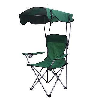 Homemiyn في الهواء الطلق للطي كرسي شاطئ الرئيس مع مظلة Sunshade لصيد الأسماك نزهة التخييم شاطئ البحر