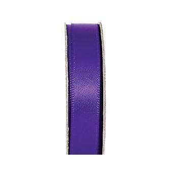 LAST FEW - 3m Deep Purple 10mm Wide Satin Craft Ribbon