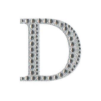 5cm Klar Selvklebende Diamante Bokstaver - D | Diamante Edelstener Utsmykninger