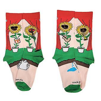 Rock'n Sunflower Band Socks from the Sock Panda