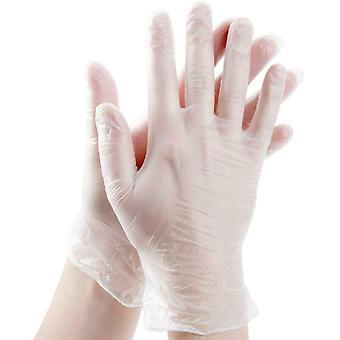 (L) 100 x Vinyyli kertakäyttökäsineet Jauhe Lateksi vapaa käsisuoja lääkintätarvikkeet