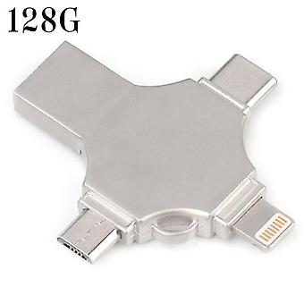 (128G) Memory Stick per unità flash USB 3.0 4 in 1 OTG per iPhone Android