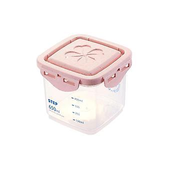 4Pcs Food Storage Seal Tank Grain Dispenser Box with Scale Refrigerator Organizer Noodle Pasta