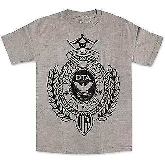 DTA RS Big Crest T-shirt Athletic Heather Black