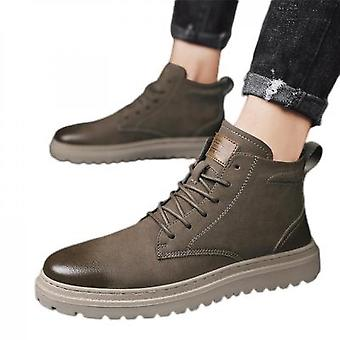 Martin Boots Men's High-top British Style Shoes Leather Shoes