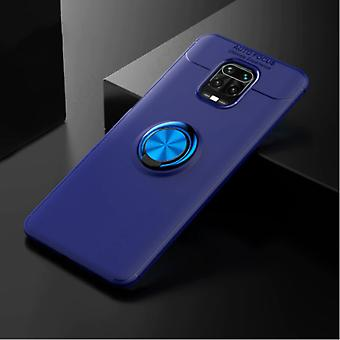 Keysion Xiaomi Redmi 9A Case with Metal Ring - Auto Focus Shockproof Case Cover Cas TPU Blue + Kickstand