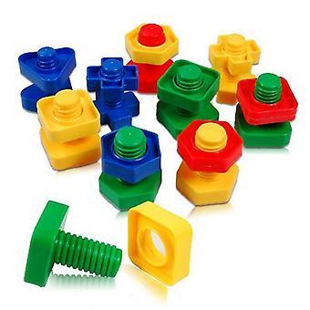 3d Colorido tornillo tuercas Pernos Construcción Puzzle Juego