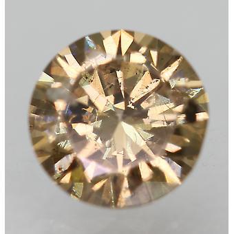 سيرت 0.51 قيراط البني الأصفر SI1 جولة رائعة تعزيز الماس الطبيعي 5.14mm