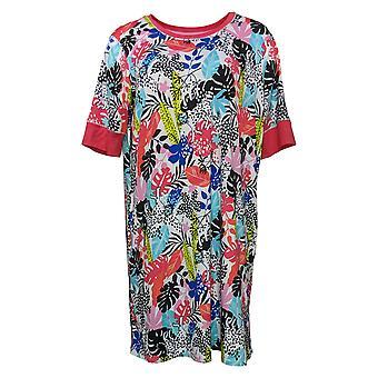 رمز الراحة من قبل الحضن دودز المرأة الأزهار Sleepshirt الأحمر 682887