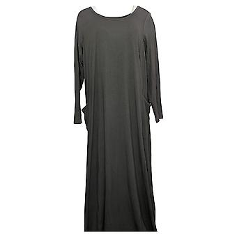 Modern Soul Plus Dress Jersey Knit Maxi w/ Pockets Gray 671349
