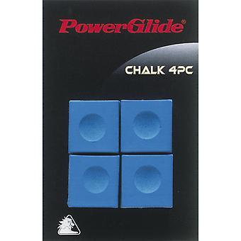 Powerglide السنوكر وتجمع الملحقات جديلة الطباشير الأزرق أربعة قطعة × 3 حزمة