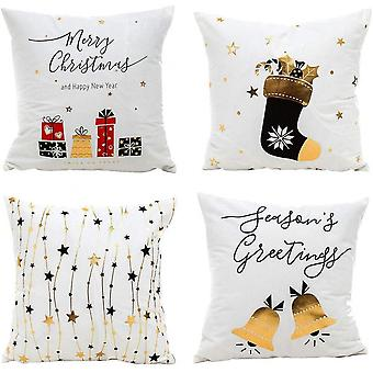 Christmas Pillow Covers 18 X 18 Inches Set Of 4 Cushion Cover Pillow Covers
