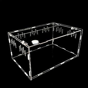 Transparante grote duurzame acryl terrarium reptielen box huisdier benodigdheden voor koudbloedige dieren