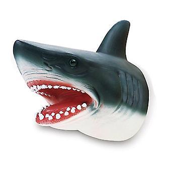 Kinder Witze Spiele Hai Handpuppe Weich Gummi Tier Kopf Handpuppen Realistische Hai Modell Spielzeug