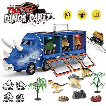 Динозавр Транспорт Грузовик Откат Назад Автомобиль Освещение Музыка Детские игрушки - ColorC