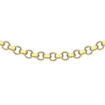 9K Gelbgold Rolo Kette Halskette für Unisex für Frau / Freundin / Mutter 20 ''