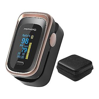 Sormipulssioksimetri digitaalinen sormenpää pulssi oximeter oled spo2 pr 8 tuntia unimonitori oksimetri