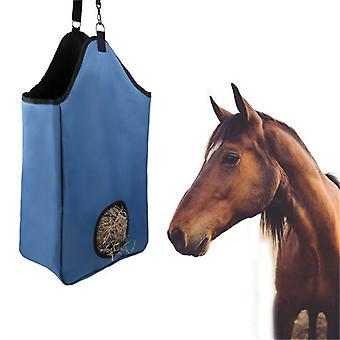Mimigo Horse Hay Bag Grand robuste Horse Feeding Hay Bag Horse Feeder Tote Bag avec anneaux métalliques pour cheval Mouton Vache 600d Nylon