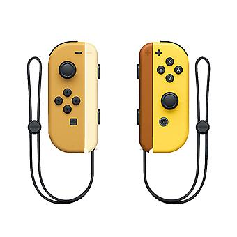 Portable Wireless Bluetooth Joy-con L/r Controller Compatible With Nintendo Switch-yellow And Brown