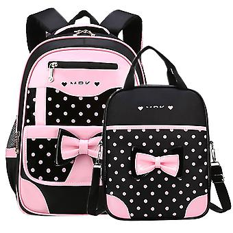 2 Pcs Girl School Backpack For 8-16 Years
