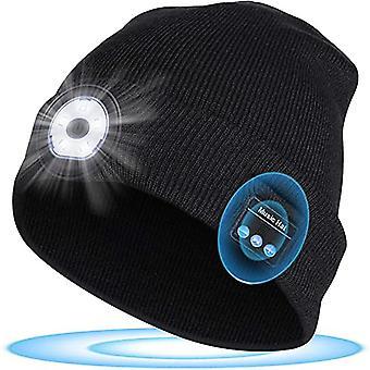 Unisex Led világító Bluetooth headset vezeték nélküli kültéri sport kötött kalap