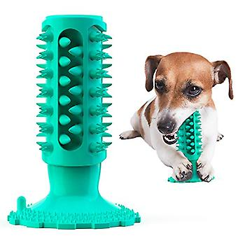 Dog Toothbrush Chewing Toy Tooth Cleaning Toy Durable And Tough Puppy Teeth Chewing Natural Rubber Brushing Stick(blue)