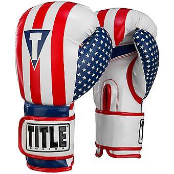 العنوان الملاكمة غرست رغاوي مكافحة الولايات المتحدة الأمريكية هوك وحلقة تدريبية قفازات