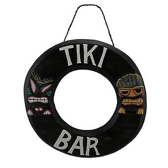 Тропический остров Tiki бар Lifering деревянные стены знак