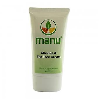 Manuka & Tea Tree Cream - 50g Natural Essential Oil Cream - Gentle Cream For All Skin Types - Cream To Soothe Dryness, Redness & Irritation
