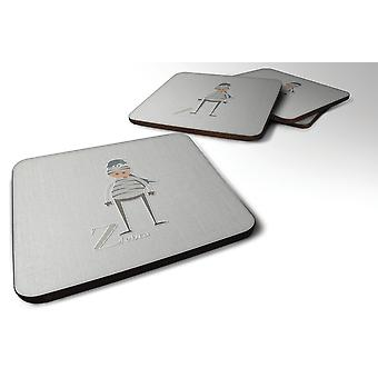 Set of 4 Alphabet Z for Zebra Foam Coasters Set of 4